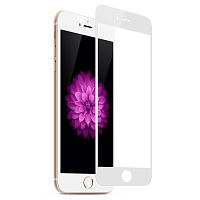 4D Glass iPhone 6 Plus White